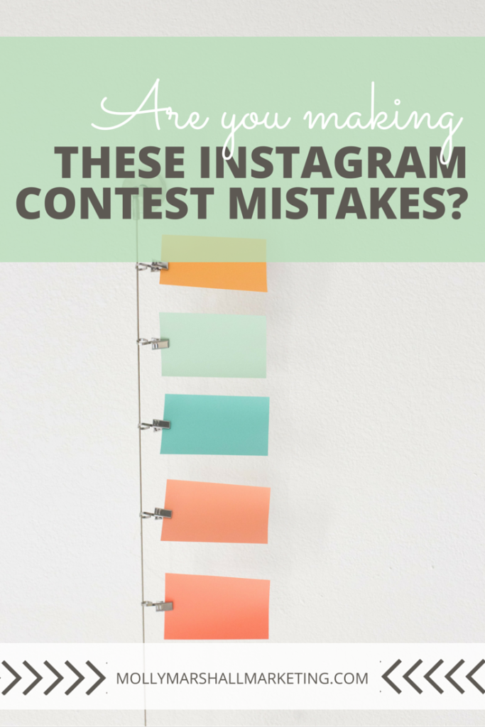 Instagram contests area great way to grow and excite your fan base, but these 7 mistakes could be limiting your success. Click to read or pin for later.