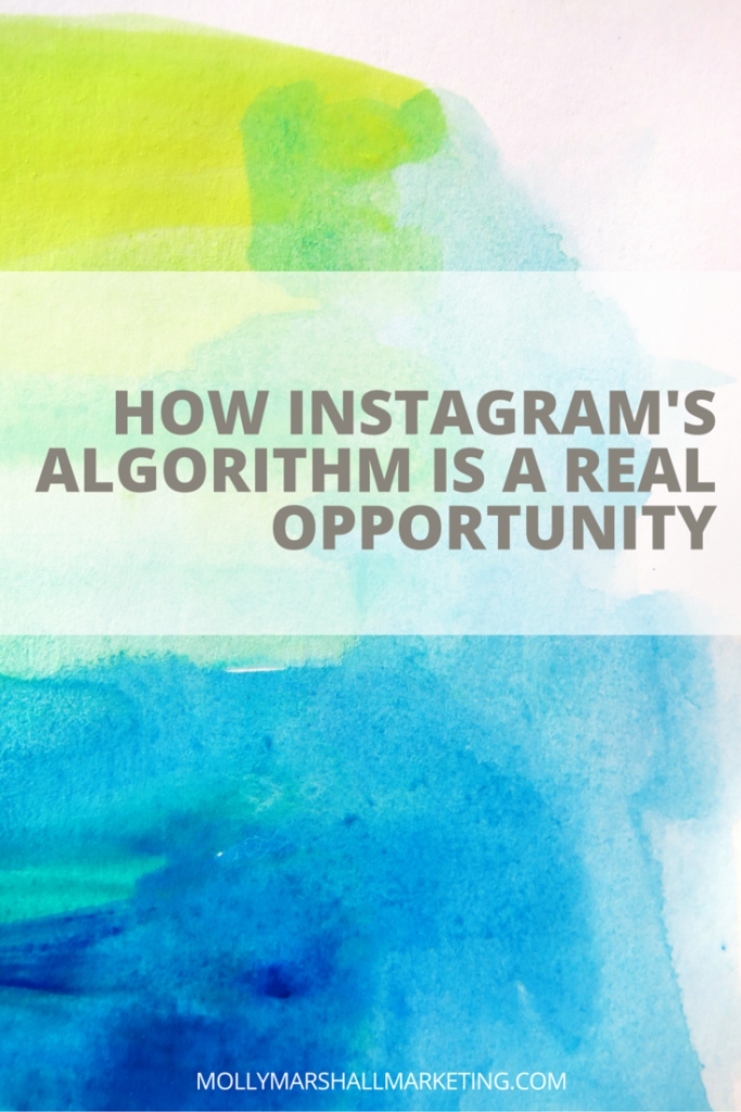 Instagram's new algorithm is a real opportunity for those who seize it! Find out what the new algorithm means for you and download my 5 point checklist to setup your Instagram account for algorithm success. Click to read or pin for later.