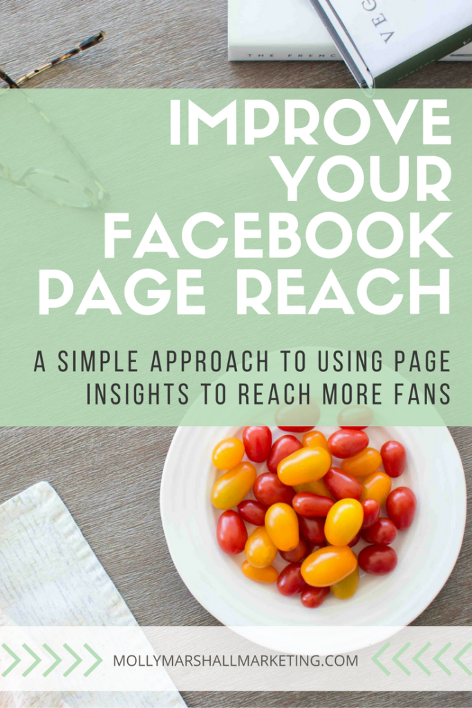 Look at these 3 simple things to improve your Facebook page reach. Pin for later!