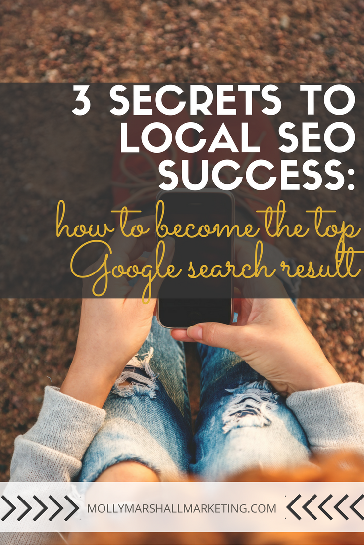 If you're a local business, how are new customers finding you? Google searches are a major source of new traffic and you need these 3 local SEO secrets for how to become the top Google search result. Click to read or pin for later.