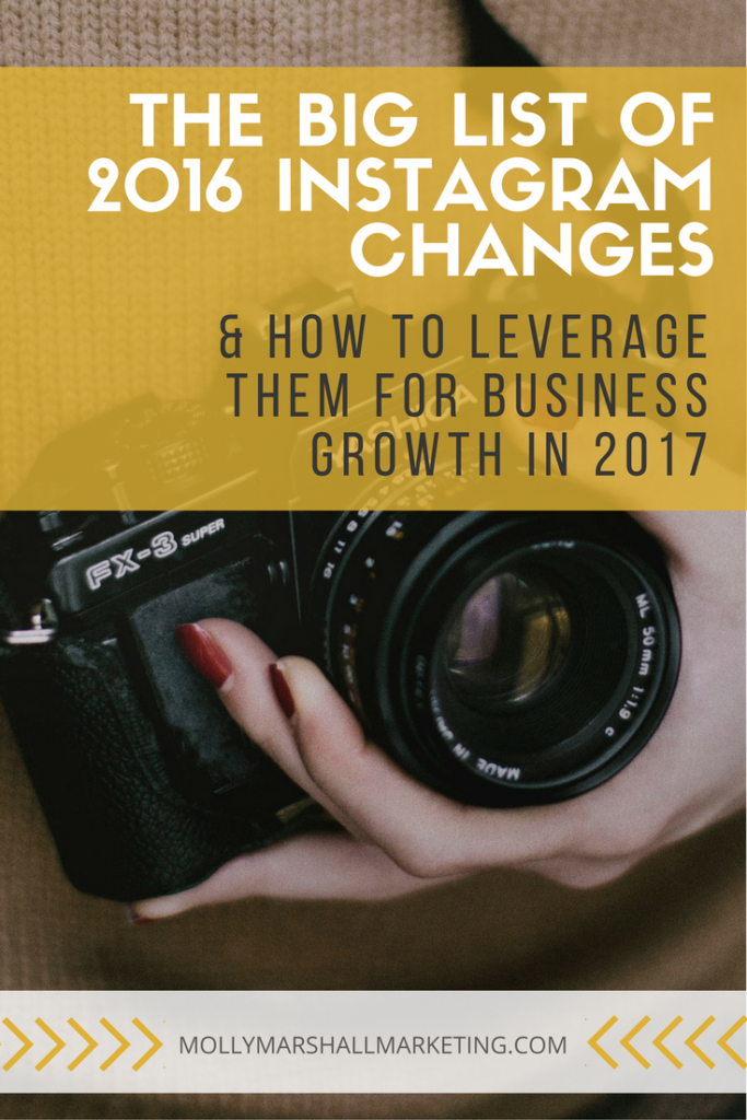 Click here to learn how to leverage all of Instagram's recent changes in 2017...or pin for later!