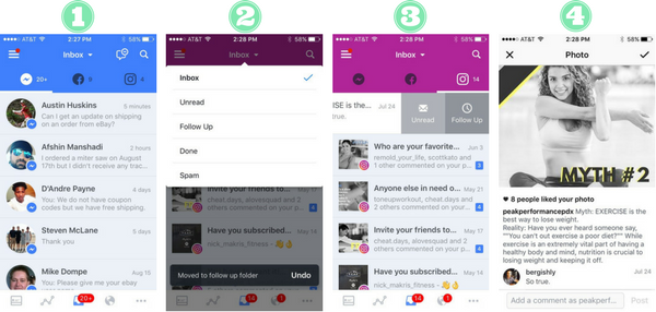 Manage Instagram comments from your universal Facebook pages inbox.