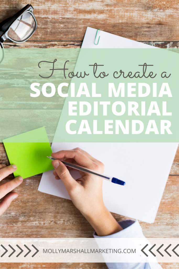 """At it's core, a social media """"editorial calendar"""" is really just a place to keep, plan and organize all of your social media posts. Let me show you a simple way to create a social media editorial calendar that works! Click to read or pin for later."""
