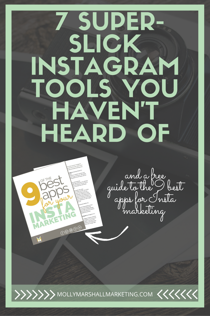 I've rounded up seven nifty Instagram tools, some mobile apps, some desktop, to give you a little extra boost with your Instagram marketing. Click to read or pin for later!