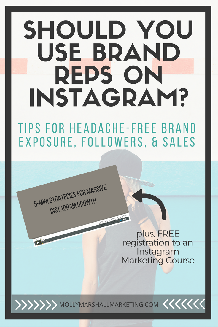 Tips for Working With Instagram Brand Reps | Molly Marshall