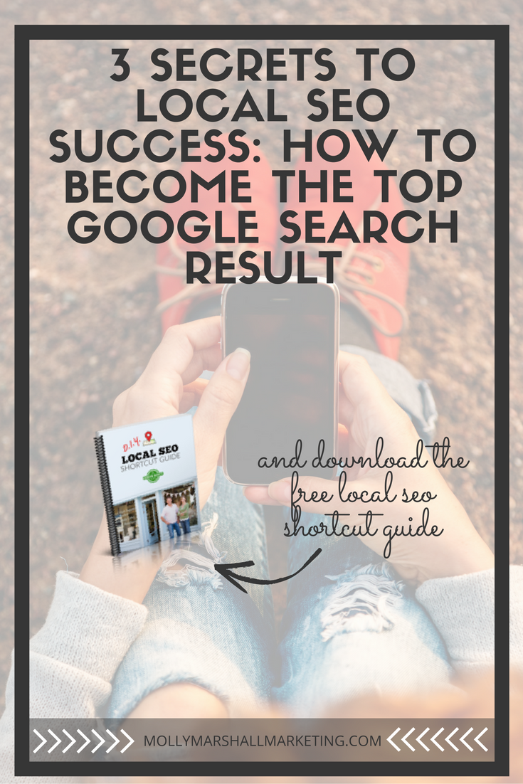 If you're a local business, how are new customers finding you? Google searches area major source of new traffic and you need these 3 local SEO secrets for how to become the top Google search result. Click to read or pin for later.