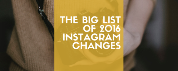 2016 Instagram changes