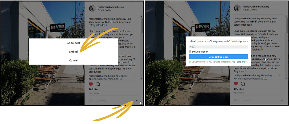How to embed your Instagram images on your website