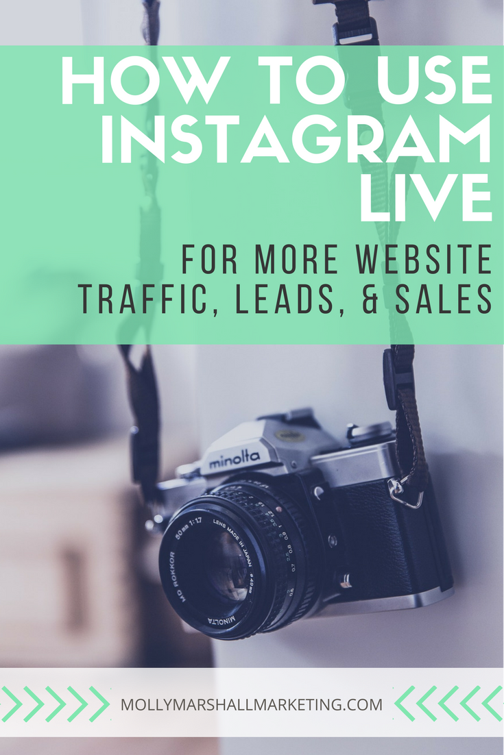 Find out how to use Instagram Live to drive traffic to your website, find more leads, and increase your sales | Click to read or pin for later
