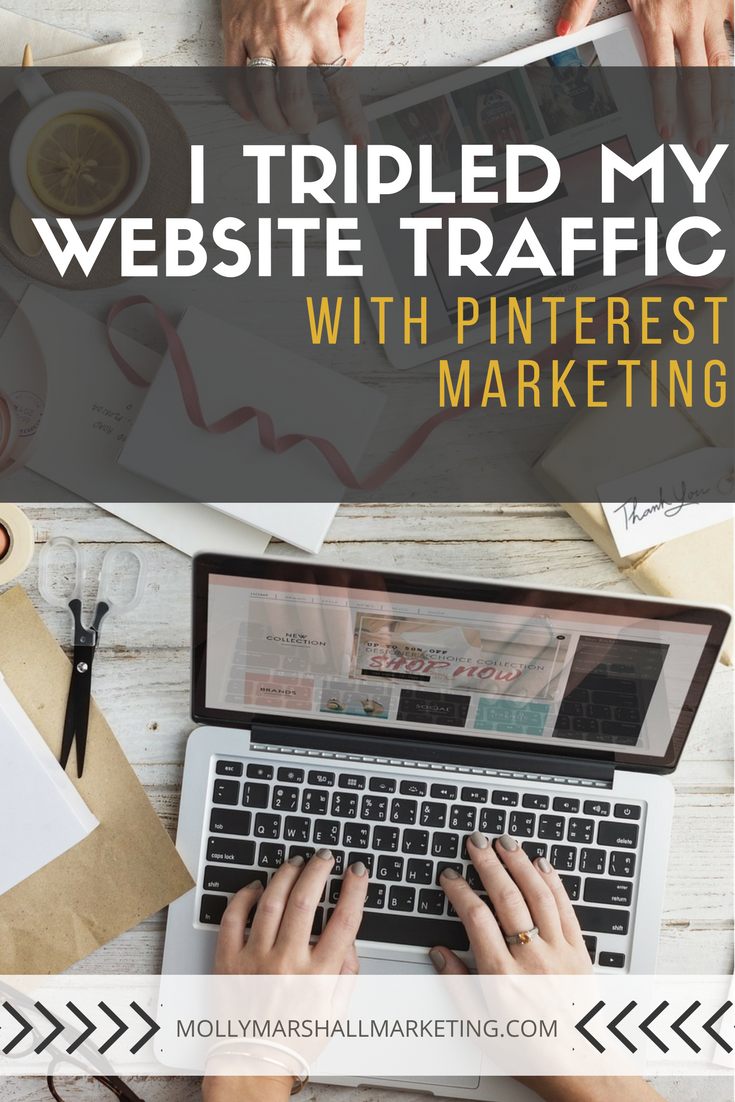 When I got serious about my Pinterest Marketing Strategy, I tripled my website traffic. Let me show you why Pinterest marketing is important and give you three tips I wish I had known when I started! Click to read and download my 10 step getting started with Pinterest checklist.