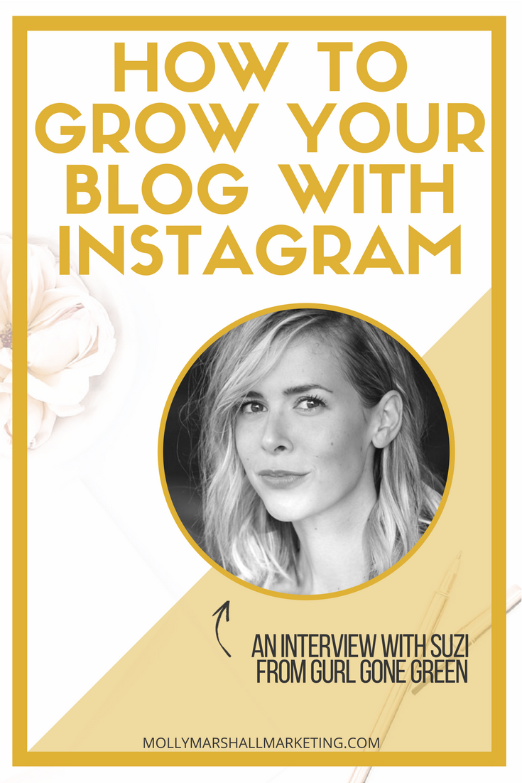 Find out how Suzi from Girl Gone Green uses Instagram to grow her blog! Click to read or save for later.