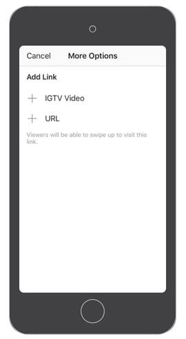 IGTV links in Instagram Stories
