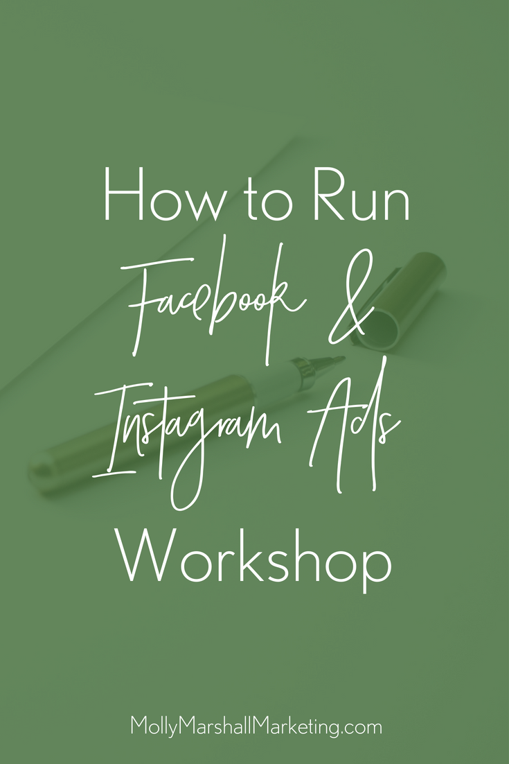 How to Run Facebook and Instagram Ads Workshop