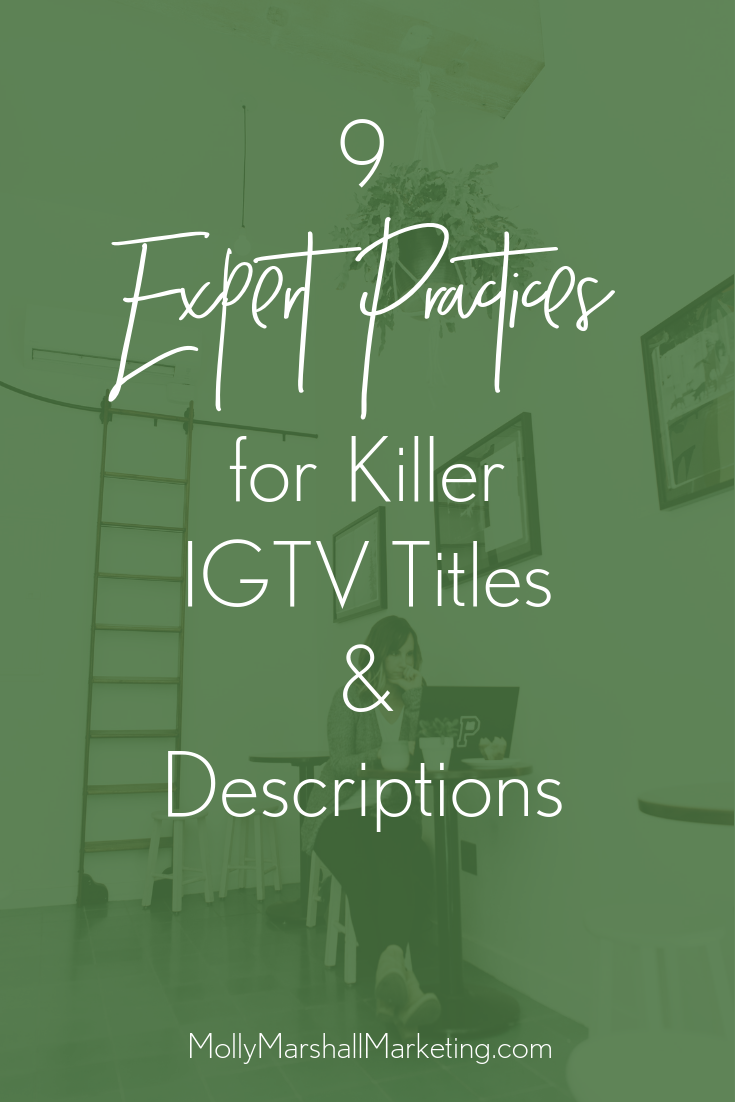 IGTV titles and descriptions are important for getting your videos watched.