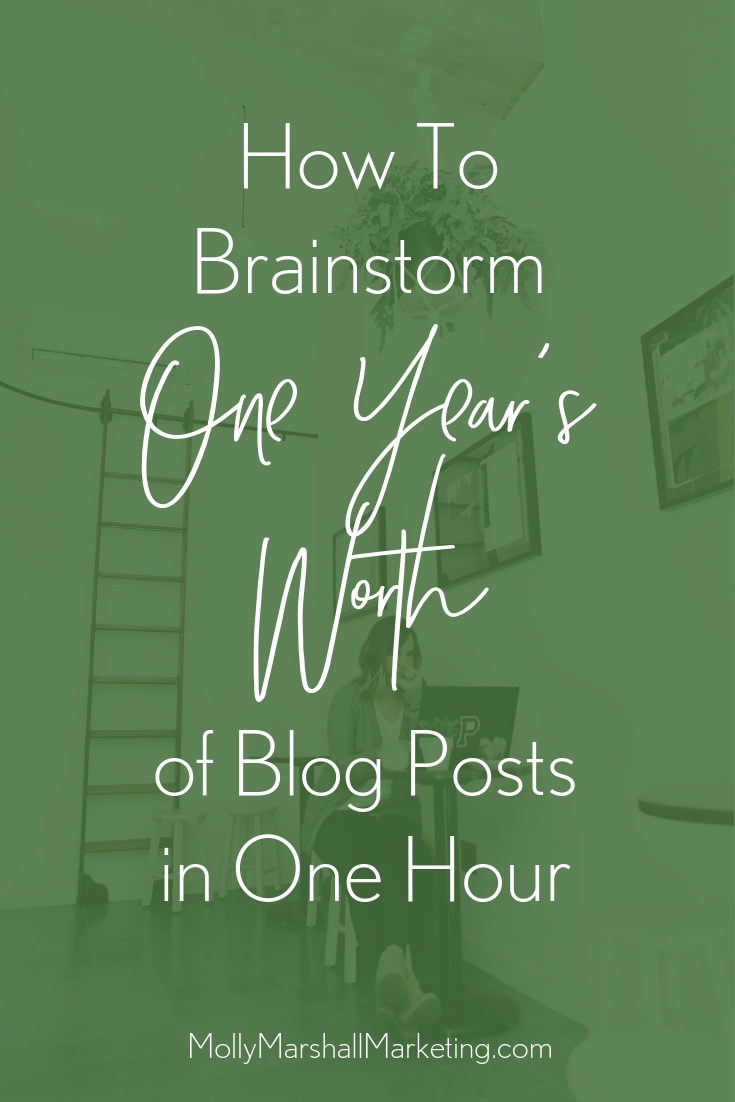 How to brainstorm a year's worth of blog posts in one hour!