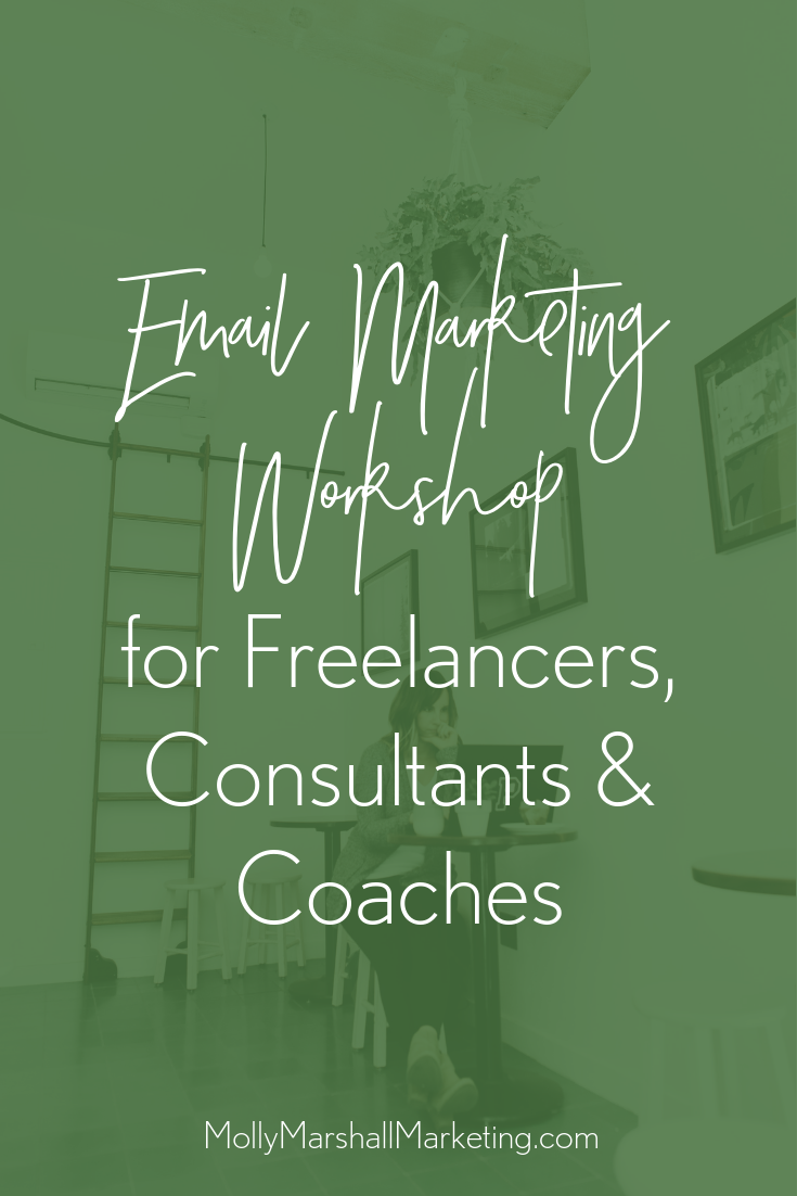 Email marketing workshop for freelancers, consultants and coaches.