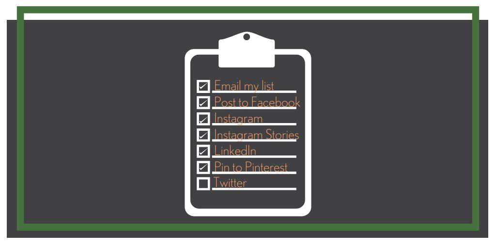 blog promo checklist