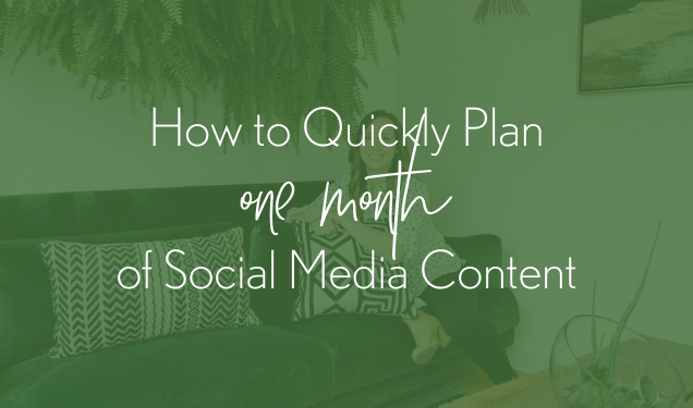 How to Map Out One Month of Social Media Content in Less Than an Hour