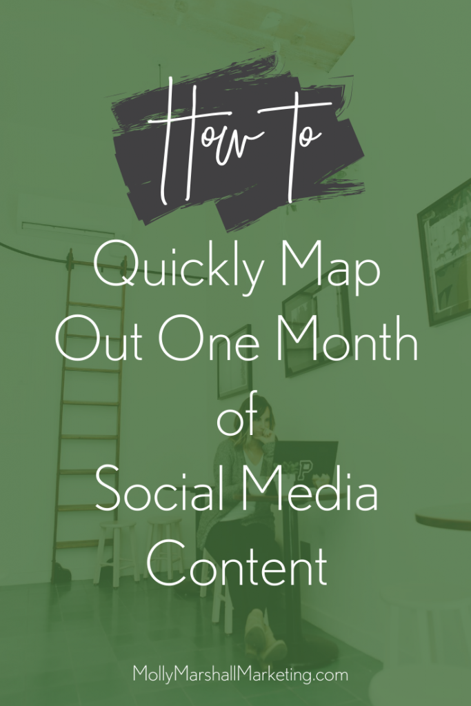 one month of social media content p