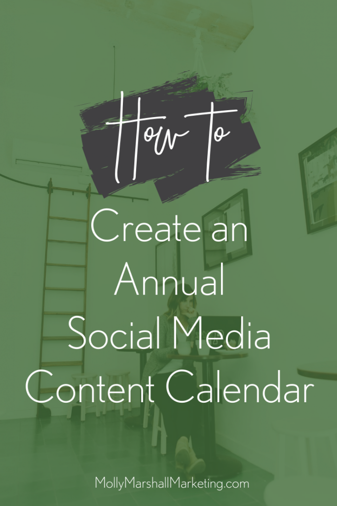 How to create an annual social media content calendar